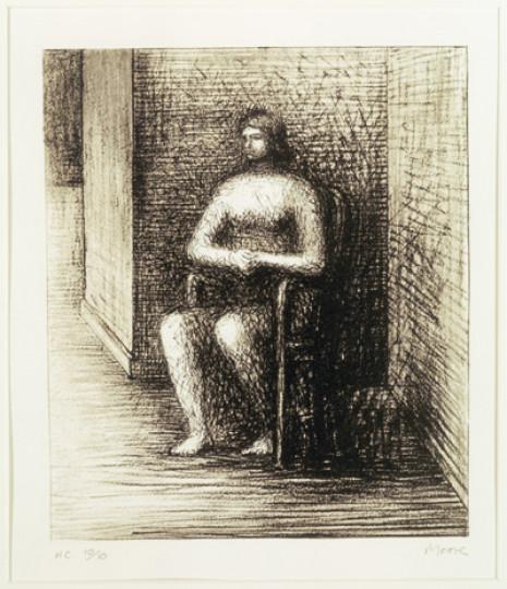 SEATED FIGURE VI:  ALCOVE CORNER