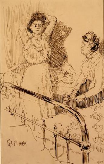 TWO WOMEN IN A BEDROOM