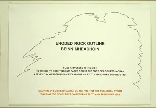 ERODED ROCK OUTLINE BEINN MHEADHOIN (TWO WALKS SUMMER 1991 AND SEPTEMBER 1988)