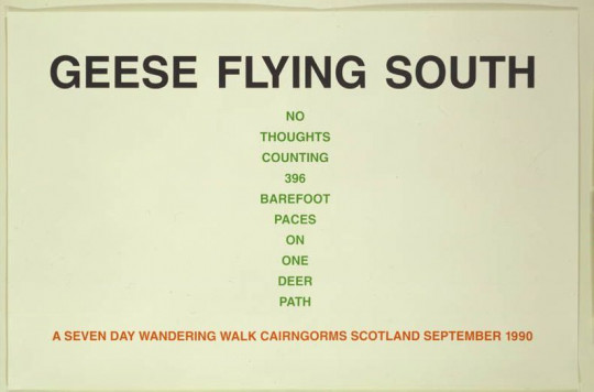 GEESE FLYING SOUTH (ONE WALK SEPTEMBER 1990)