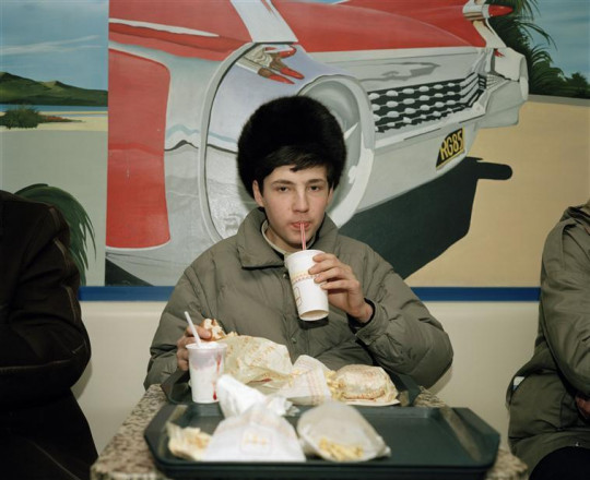 YOUTH DRINKING IN MACDONALDS, MOSCOW