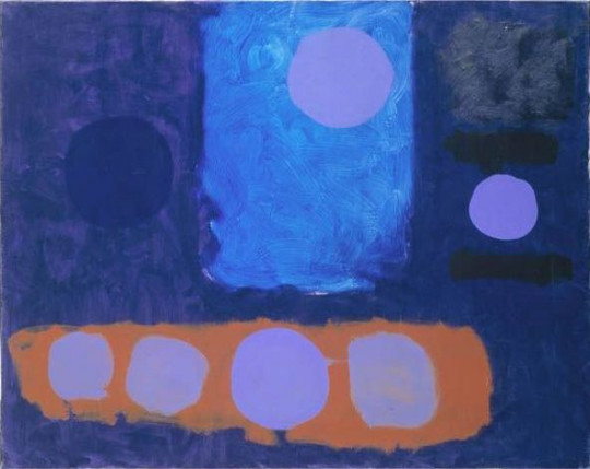 BLUE PAINTING WITH DISCS: SEPTEMBER 1962