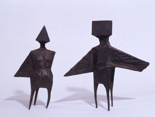 TWO WINGED FIGURES - MAQUETTE IX