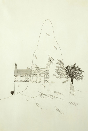 'THE GLASS MOUNTAIN SHATTERED' FROM ILLUSTRATIONS FOR SIX FAIRY TALES FROM THE BROTHERS GRIMM 1969