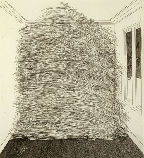 'A ROOM FULL OF STRAW' FROM ILLUSTRATIONS FOR SIX FAIRY TALES FROM THE BROTHERS GRIMM 1969