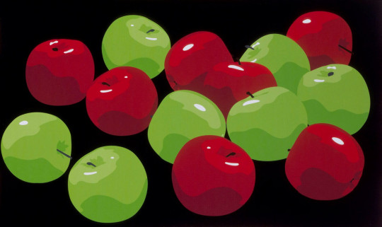 STILL LIFE WITH GREEN AND RED APPLES