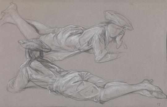 STUDIES OF FIGURES IN MARMITON COSTUME