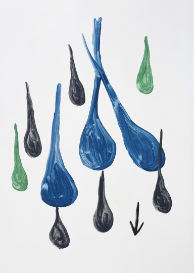 Untitled (raindrops with arrow)