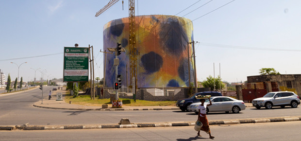 Laura Aldridge's wrap of the Headquarters of Federal Ministry of Women Affairs & Social Development, Abuja