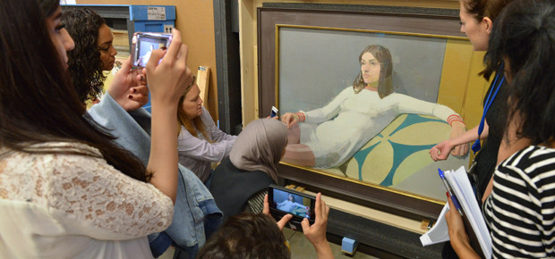 Curators visit the British Council Collection