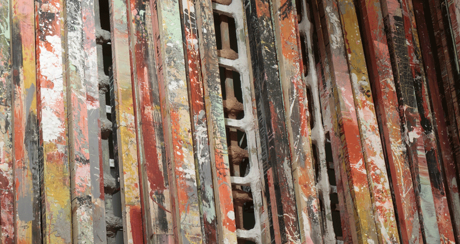 Installation view, set, Phyllida Barlow, The Fruitmarket Gallery